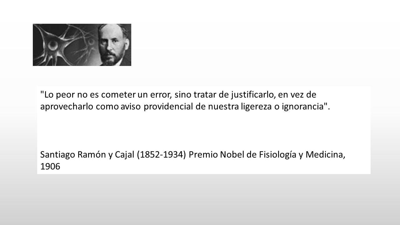 Lo peor no es cometer un error, sino tratar de justificarlo, en vez de aprovecharlo como aviso providencial de nuestra ligereza o ignorancia .