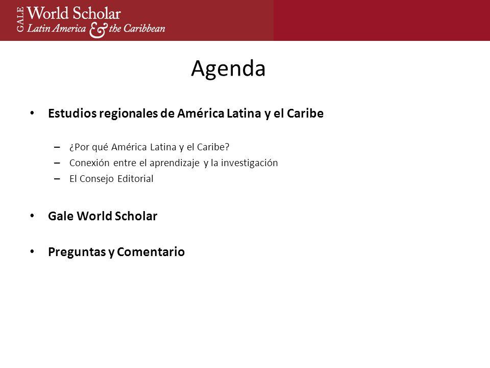 Agenda Estudios regionales de América Latina y el Caribe – ¿Por qué América Latina y el Caribe.