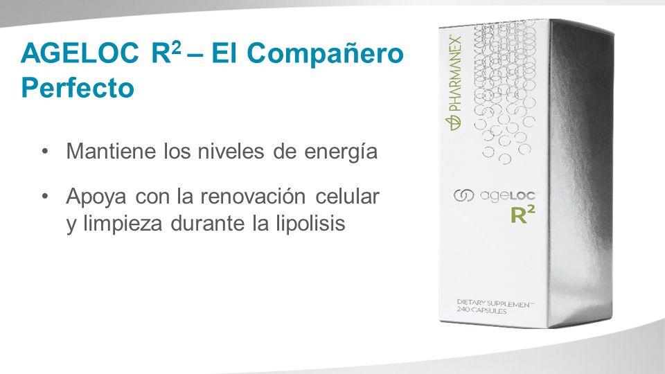 AGELOC R 2 – El Compañero Perfecto Mantiene los niveles de energía Apoya con la renovación celular y limpieza durante la lipolisis