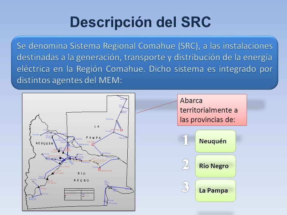 Año 2012 – Sin Las Mellizas ZONA DE INTERES Línea con estructuras y conductor de 132 kV (aislada en 33 kV)