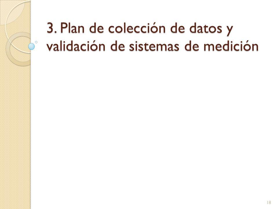 3. Plan de colección de datos y validación de sistemas de medición 18