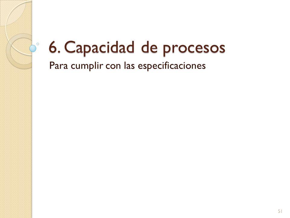 6. Capacidad de procesos Para cumplir con las especificaciones 51