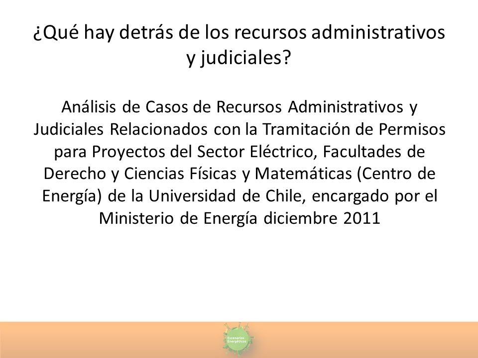 ¿Qué hay detrás de los recursos administrativos y judiciales? Análisis de Casos de Recursos Administrativos y Judiciales Relacionados con la Tramitaci