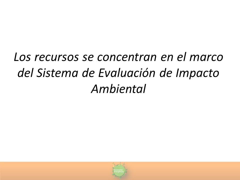 Los recursos se concentran en el marco del Sistema de Evaluación de Impacto Ambiental