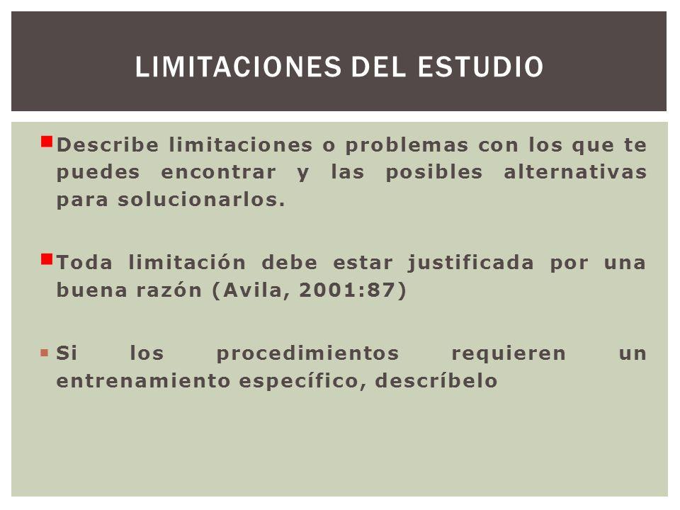 Describe limitaciones o problemas con los que te puedes encontrar y las posibles alternativas para solucionarlos. Toda limitación debe estar justifica
