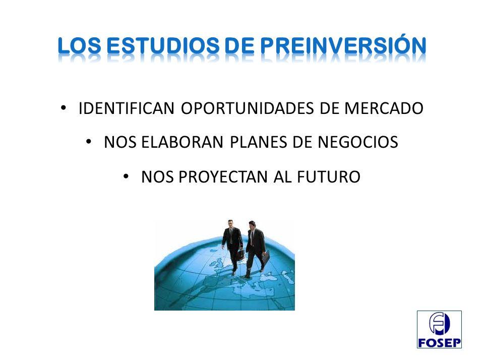 IDENTIFICAN OPORTUNIDADES DE MERCADO NOS ELABORAN PLANES DE NEGOCIOS NOS PROYECTAN AL FUTURO