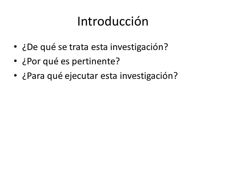 Problema de Investigación ¿Cuál es el estado de la situación o aspecto a estudiar y qué interrogantes se pretendían responder.