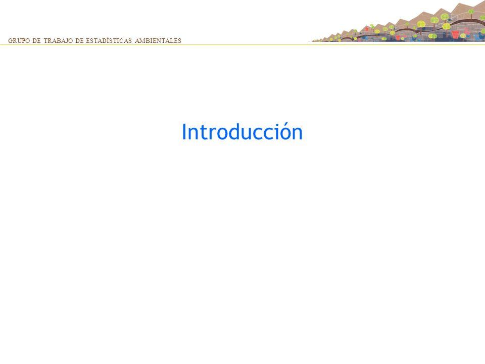 Introducción GRUPO DE TRABAJO DE ESTADÍSTICAS AMBIENTALES