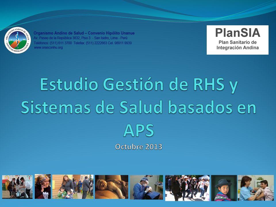 Se reafirma la necesidad de contribuir a la equidad en salud a través del fortalecimiento de enfoque de Atención Primaria en Salud, Promoción de la Salud y el Modelo de Salud Familiar, Comunitaria e Intercultural Contexto del Estudio de RHS y APS
