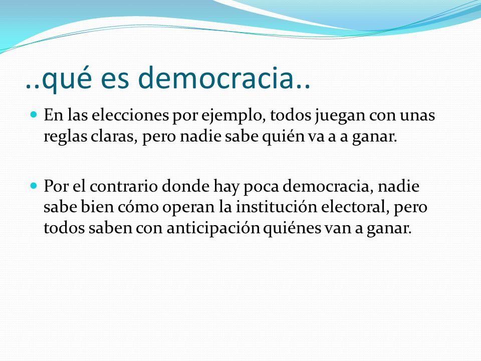 ..qué es democracia..