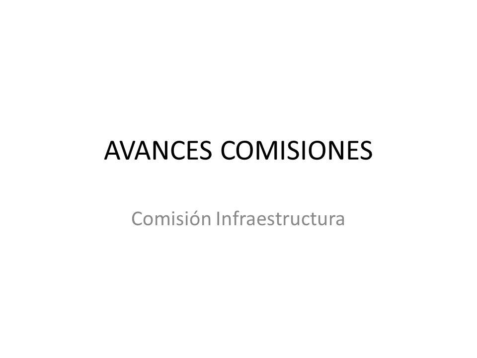 AVANCES COMISIONES Comisión Infraestructura