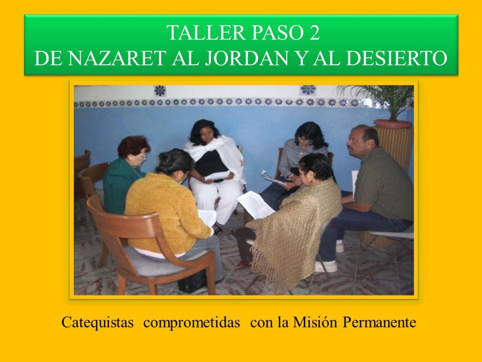 TALLER PASO 2 DE NAZARET AL JORDAN Y AL DESIERTO Catequistas comprometidas con la Misión Permanente