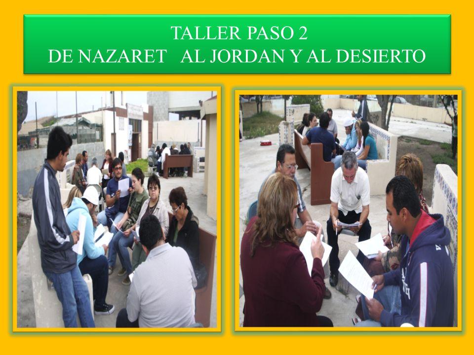 TALLER PASO 2 DE NAZARET AL JORDAN Y AL DESIERTO