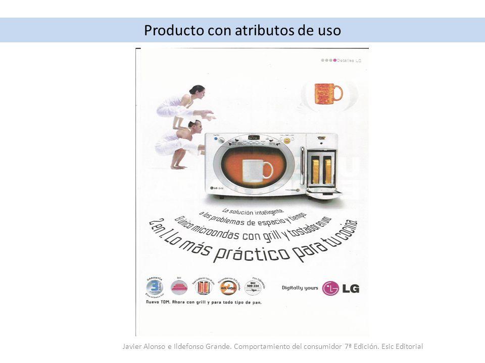 Producto con atributos de uso Javier Alonso e Ildefonso Grande. Comportamiento del consumidor 7ª Edición. Esic Editorial