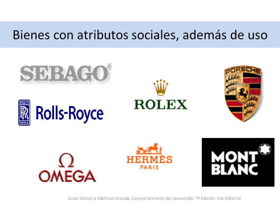 Bienes con atributos sociales, además de uso Javier Alonso e Ildefonso Grande. Comportamiento del consumidor 7ª Edición. Esic Editorial
