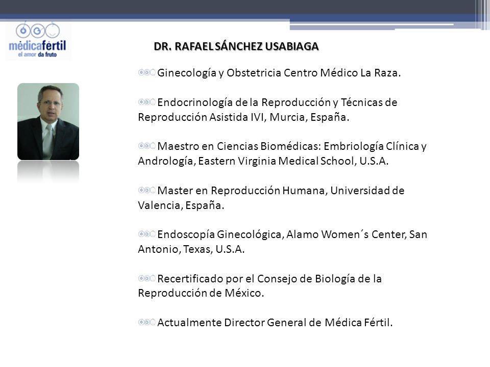 www.medicafertil.com.mx INSTITUTO CERTIFICADO ISO 9001.