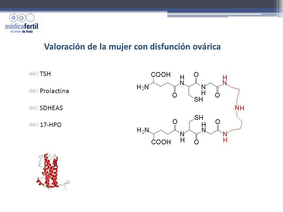 Valoración de la mujer con disfunción ovárica TSH Prolactina SDHEAS 17-HPO