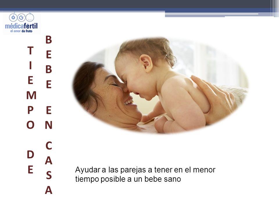 Ayudar a las parejas a tener en el menor tiempo posible a un bebe sano TIEMPO DETIEMPO DE BEBEEN CASABEBEEN CASA