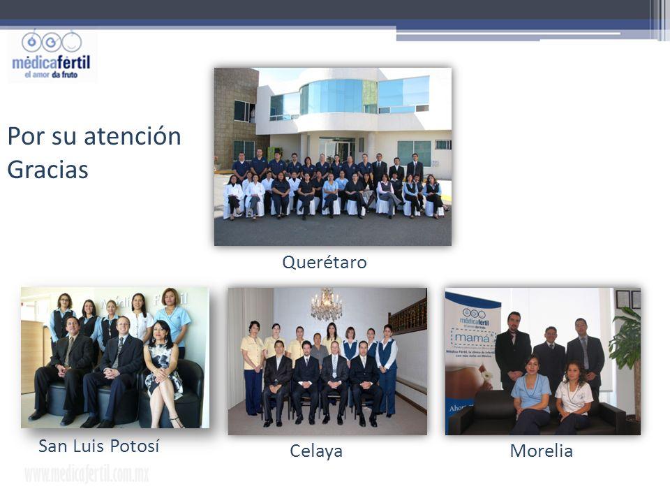 www.medicafertil.com.mx INSTITUTO CERTIFICADO ISO 9001. San Luis Potosí CelayaMorelia Querétaro Por su atención Gracias