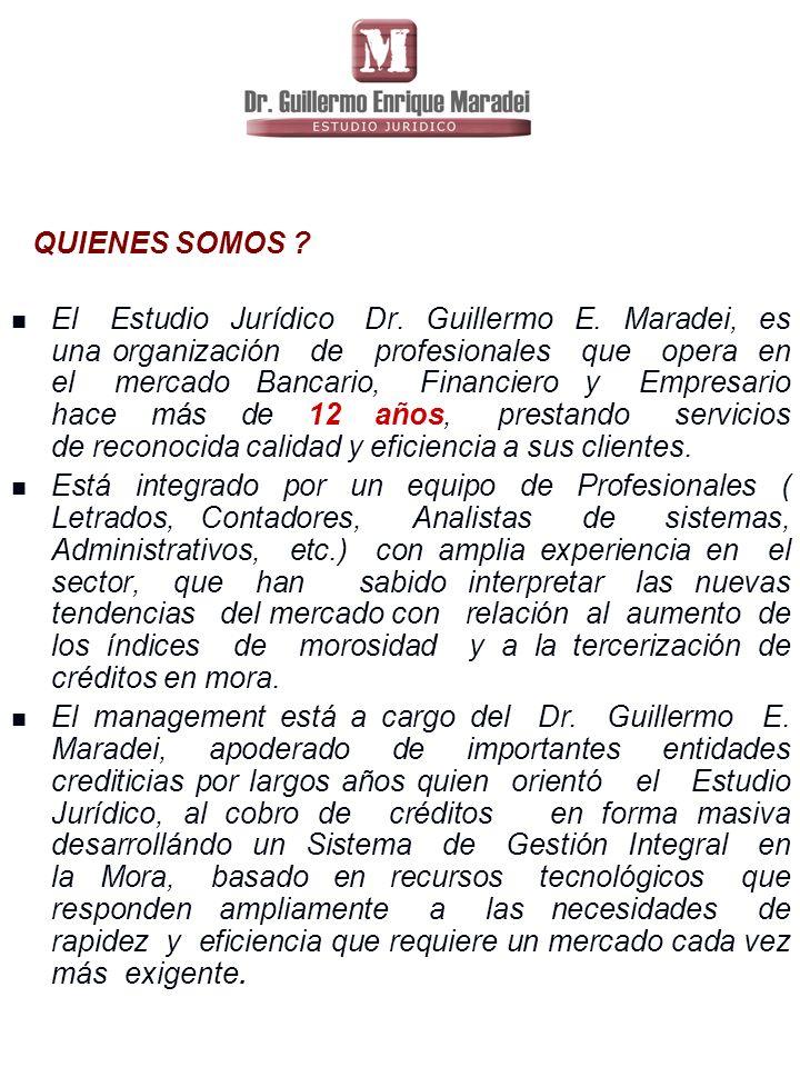 QUIENES SOMOS .El Estudio Jurídico Dr. Guillermo E.
