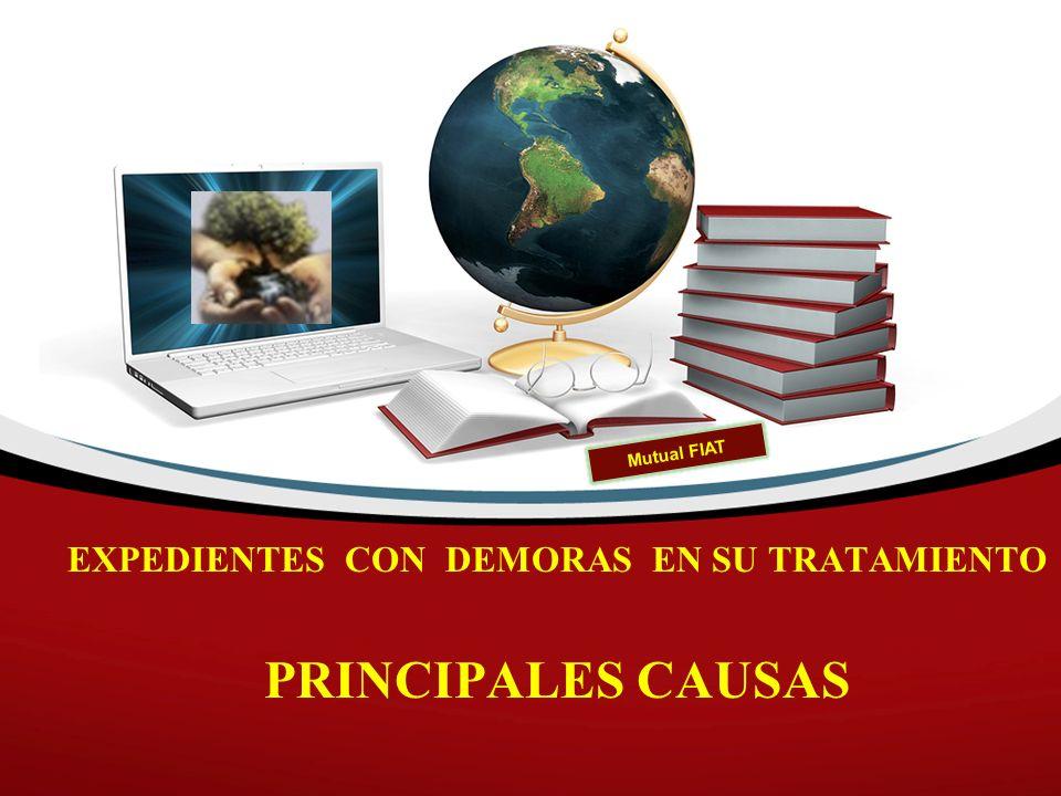 EXPEDIENTES CON DEMORAS EN SU TRATAMIENTO PRINCIPALES CAUSAS Mutual FIAT