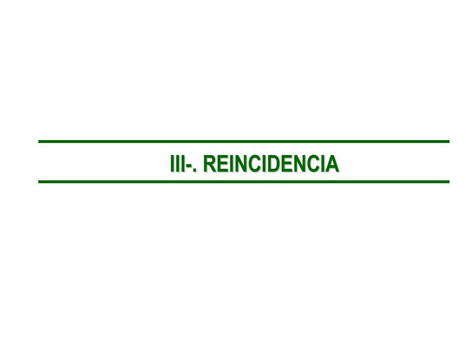 III-. REINCIDENCIA III-. REINCIDENCIA