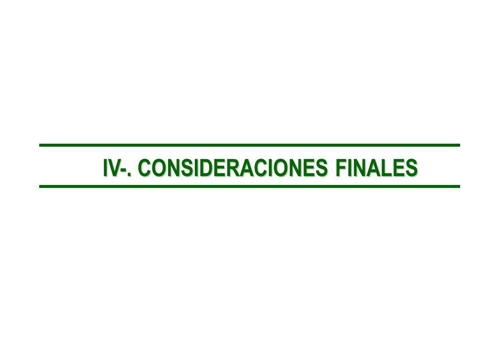 IV-. CONSIDERACIONES FINALES IV-. CONSIDERACIONES FINALES