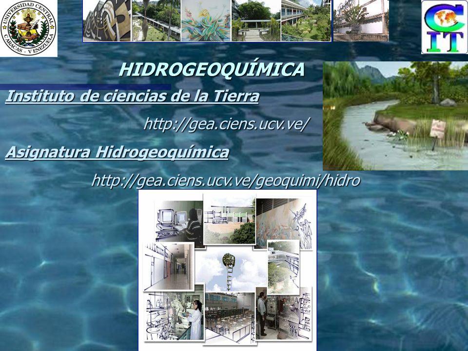 HIDROGEOQUÍMICA Instituto de ciencias de la Tierra http://gea.ciens.ucv.ve/ Asignatura Hidrogeoquímica http://gea.ciens.ucv.ve/geoquimi/hidro