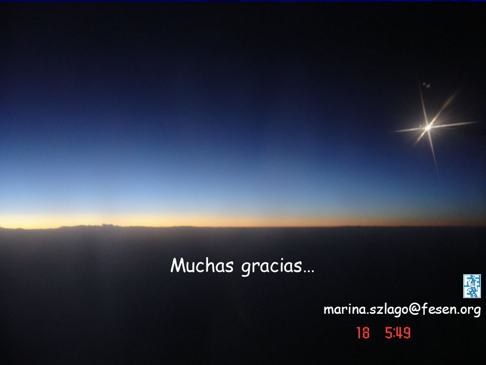 Muchas gracias… marina.szlago@fesen.org