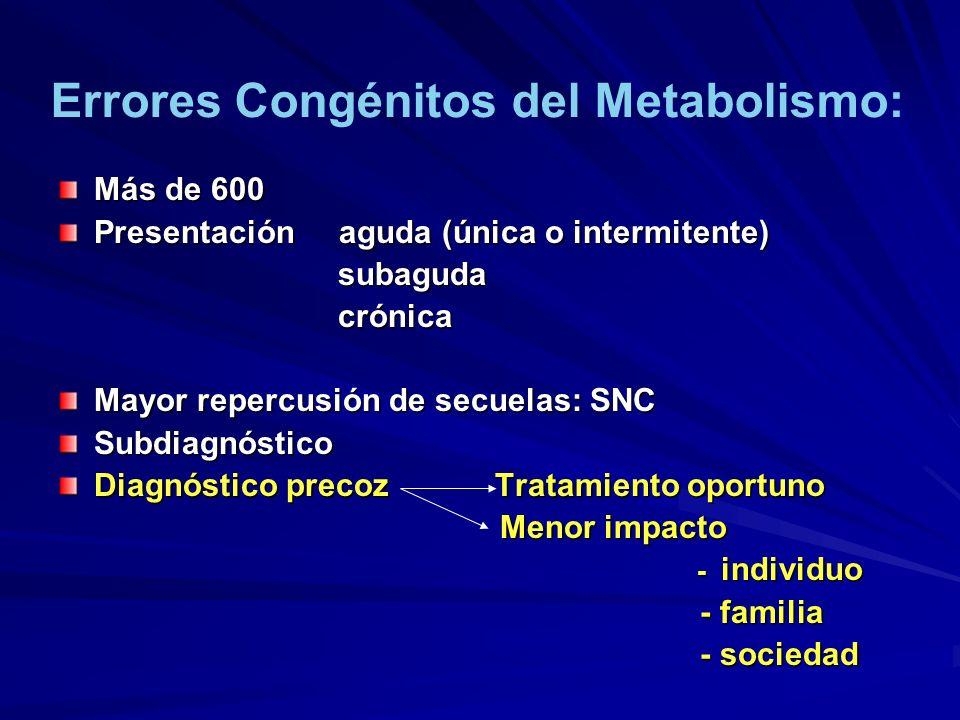 Más de 600 Presentación aguda (única o intermitente) subaguda subaguda crónica crónica Mayor repercusión de secuelas: SNC Subdiagnóstico Diagnóstico p