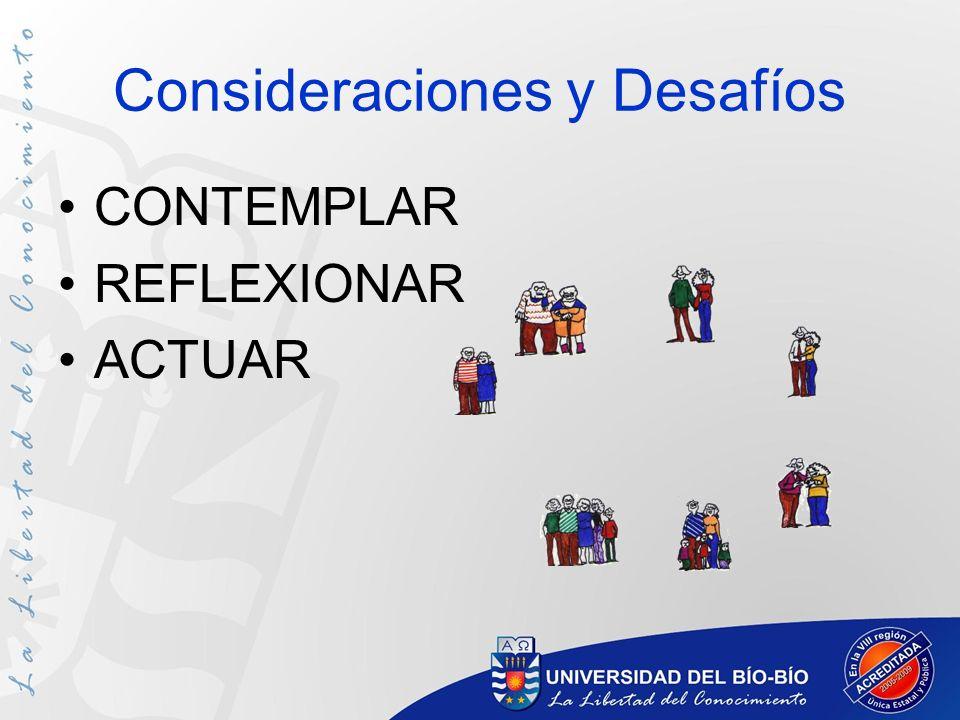 Consideraciones y Desafíos CONTEMPLAR REFLEXIONAR ACTUAR