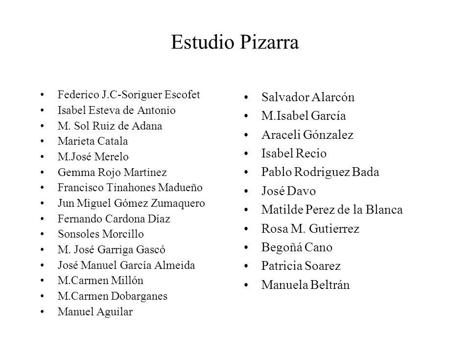 Estudio Pizarra Federico J.C-Soriguer Escofet Isabel Esteva de Antonio M.