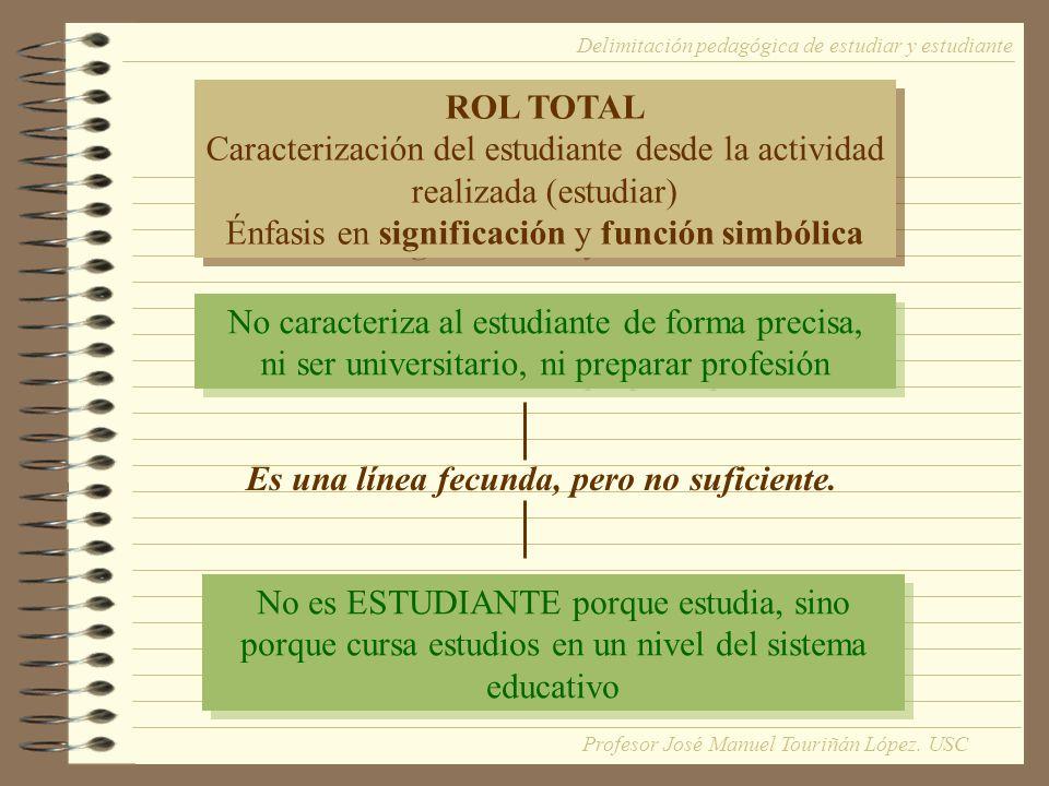No caracteriza al estudiante de forma precisa, ni ser universitario, ni preparar profesión No caracteriza al estudiante de forma precisa, ni ser unive