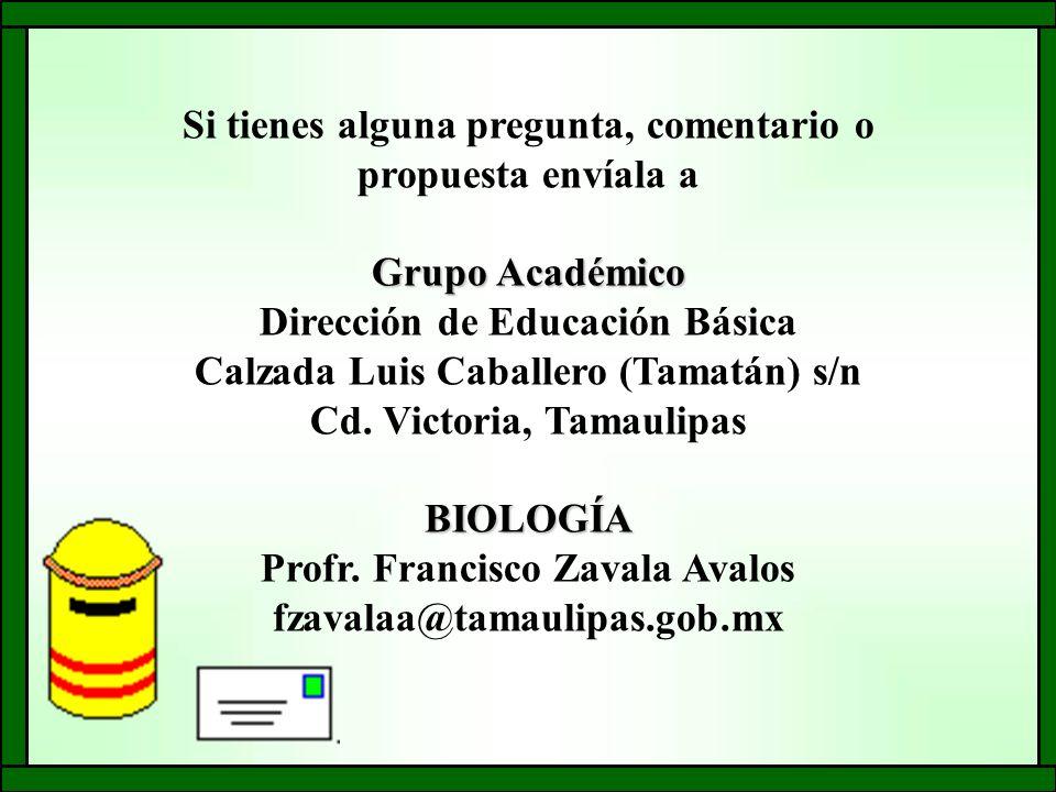 Si tienes alguna pregunta, comentario o propuesta envíala a Grupo Académico Dirección de Educación Básica Calzada Luis Caballero (Tamatán) s/n Cd.