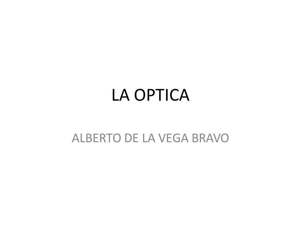 LA OPTICA La Óptica es la rama de la física que estudia el comportamiento de la luz, sus características y sus manifestaciones.físicaluz Abarca el estudio de la reflexión, la refracción, las interferencias, la difracción, la formación de imágenes y la interacción de la luz con la materia.reflexiónrefraccióninterferenciasdifracción