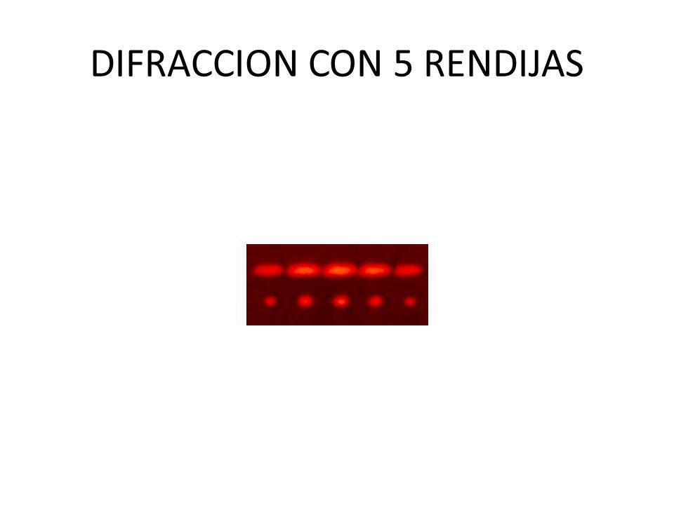 DIFRACCION CON 5 RENDIJAS