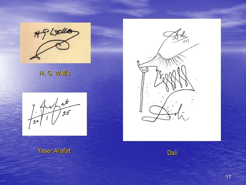 17 H. G. Wells Yaser Arafat Dalí