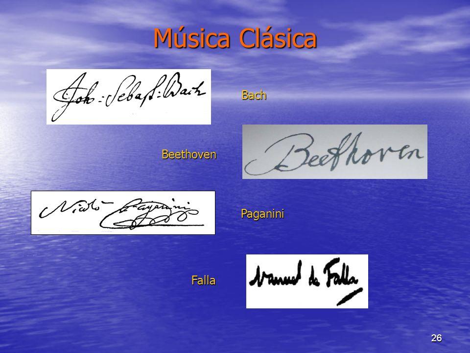 26 Música Clásica Bach Beethoven Paganini Falla