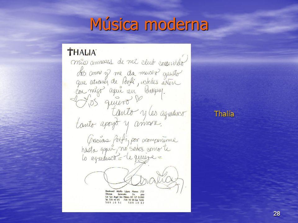 28 Música moderna Thalía