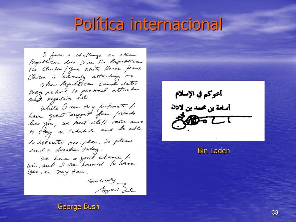 33 Política internacional George Bush Bin Laden