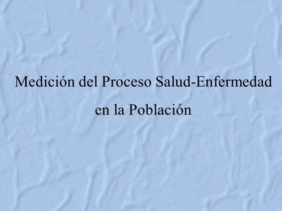 Medición del Proceso Salud-Enfermedad en la Población