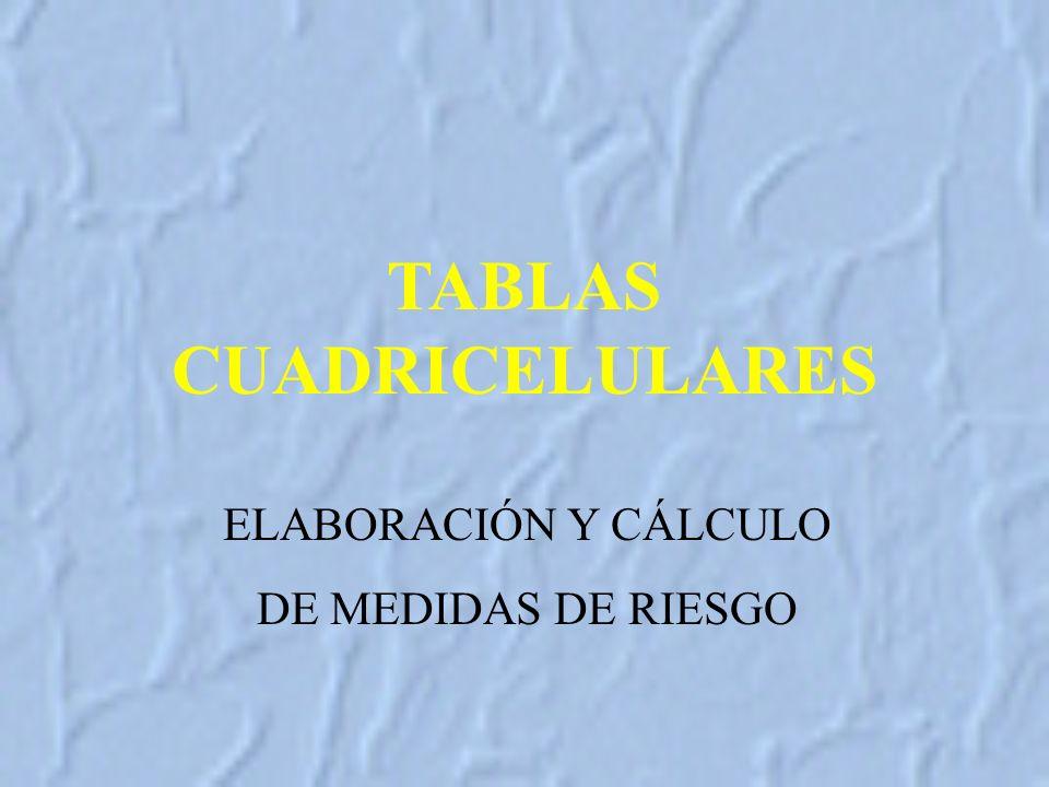 ELABORACIÓN Y CÁLCULO DE MEDIDAS DE RIESGO TABLAS CUADRICELULARES