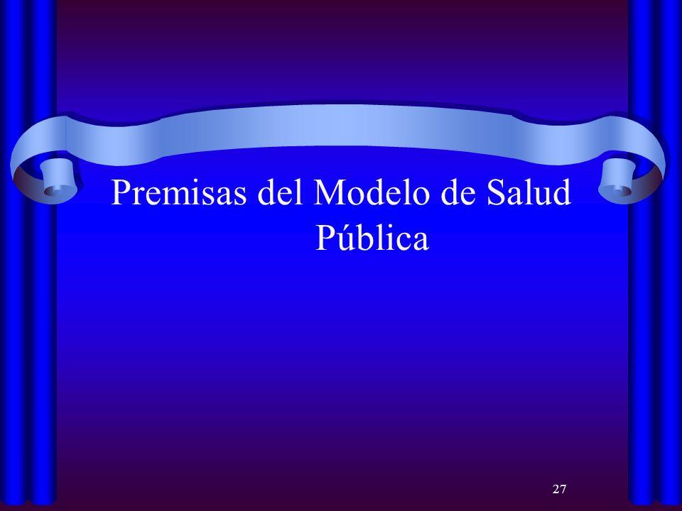27 Premisas del Modelo de Salud Pública