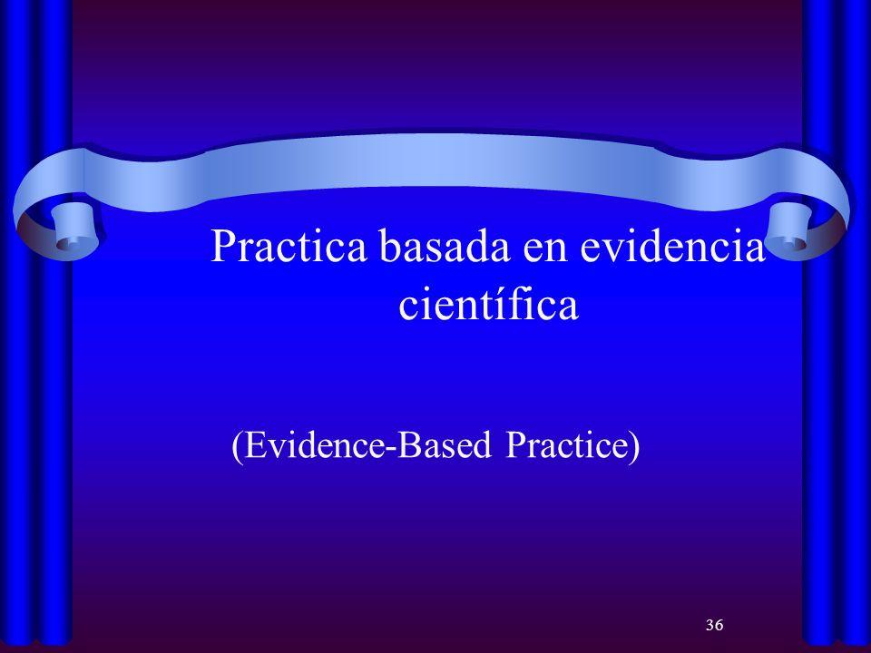 36 Practica basada en evidencia científica (Evidence-Based Practice)