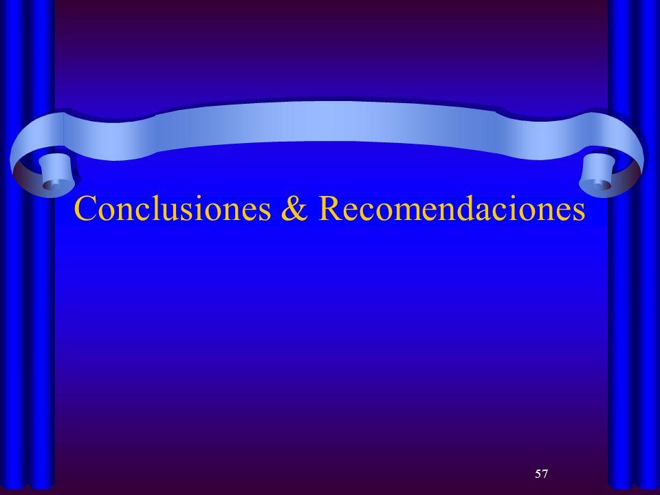 57 Conclusiones & Recomendaciones