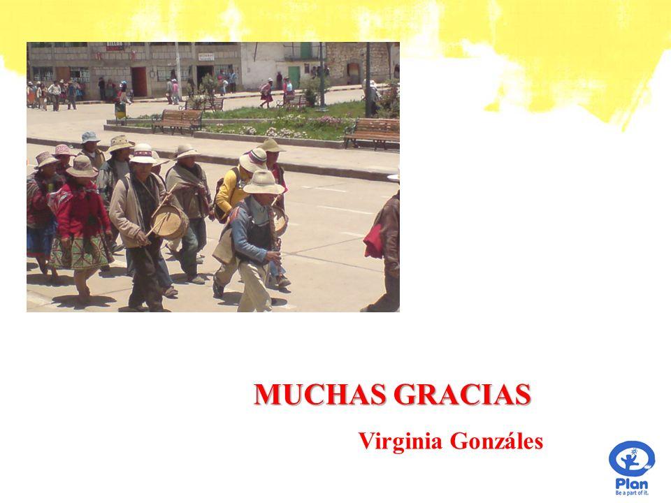 MUCHAS GRACIAS Virginia Gonzáles