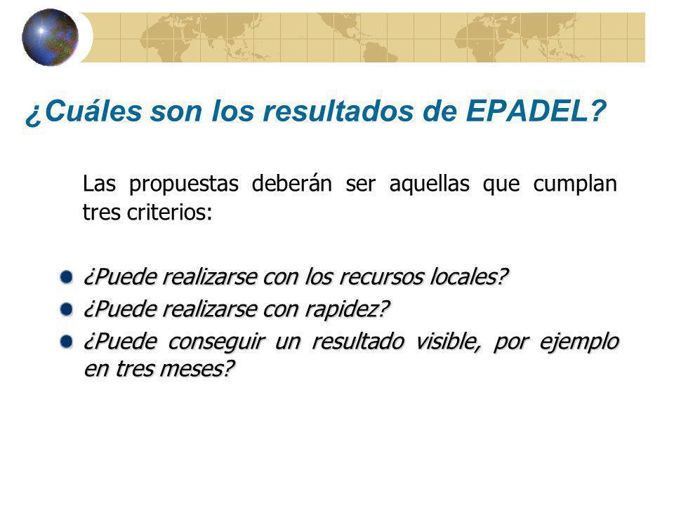 ¿Cuáles son los resultados de EPADEL.