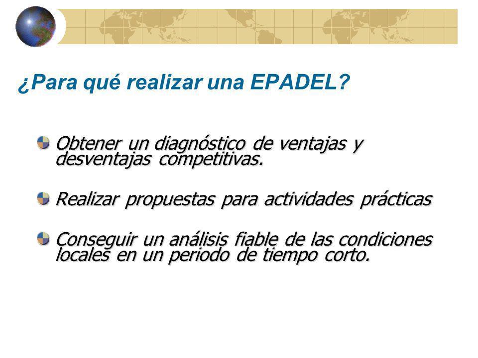 EPADEL encierra una visión sobre cómo conseguir el desarrollo económico local, incluyendo el apoyo de MPyMES y la promoción del empleo.