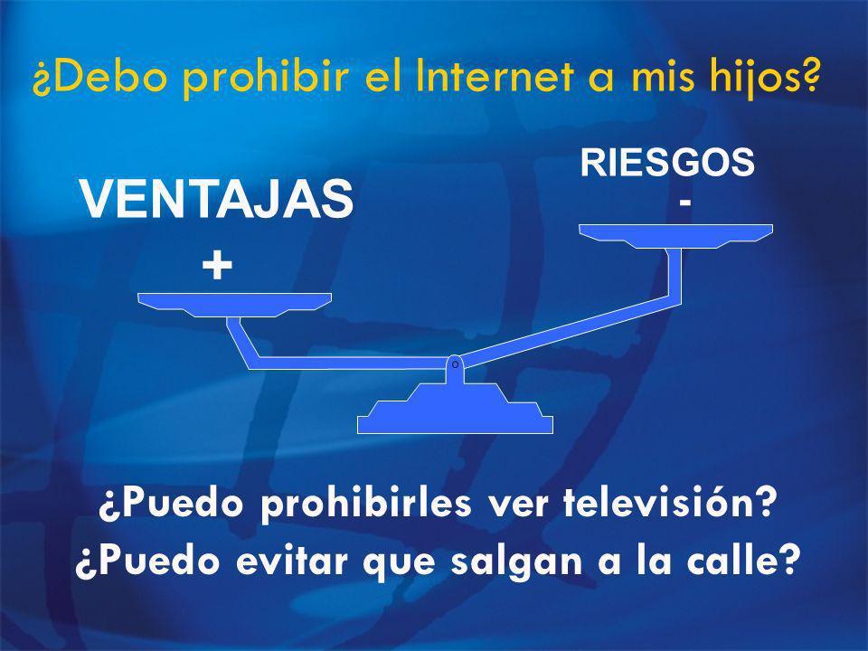 ¿Debo prohibir el Internet a mis hijos.RIESGOS - VENTAJAS + ¿Puedo prohibirles ver televisión.