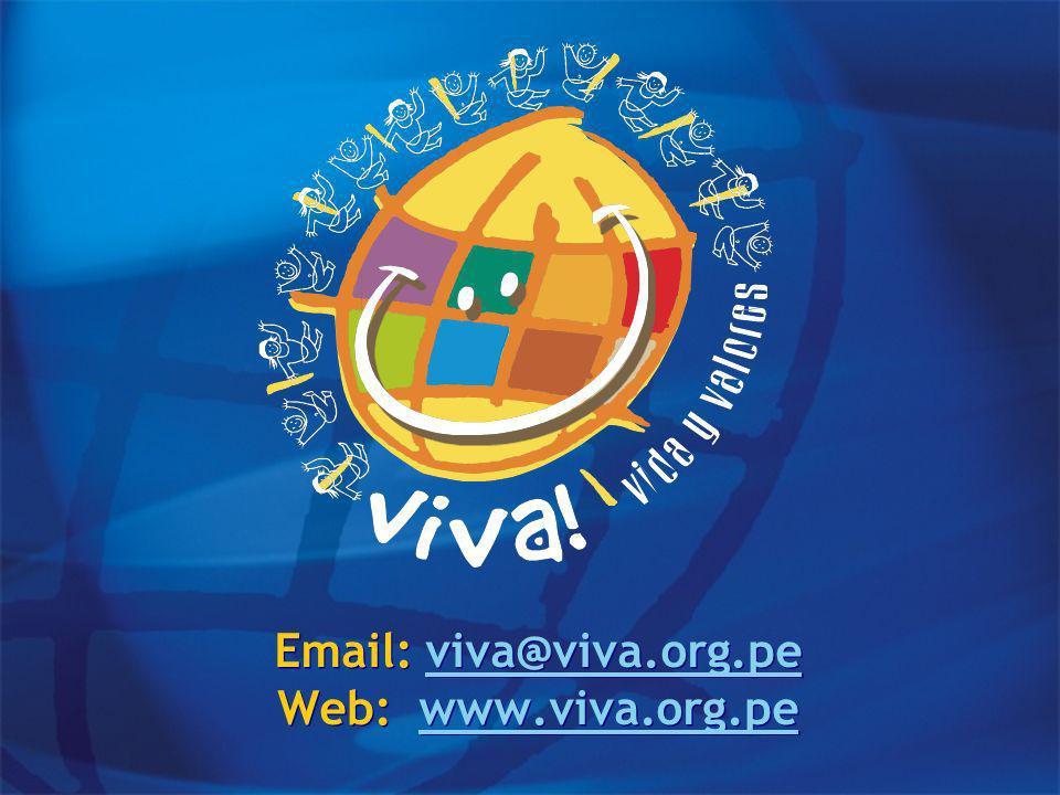 Email: viva@viva.org.pe Web: www.viva.org.peviva@viva.org.pewww.viva.org.pe Email: viva@viva.org.pe Web: www.viva.org.peviva@viva.org.pewww.viva.org.pe